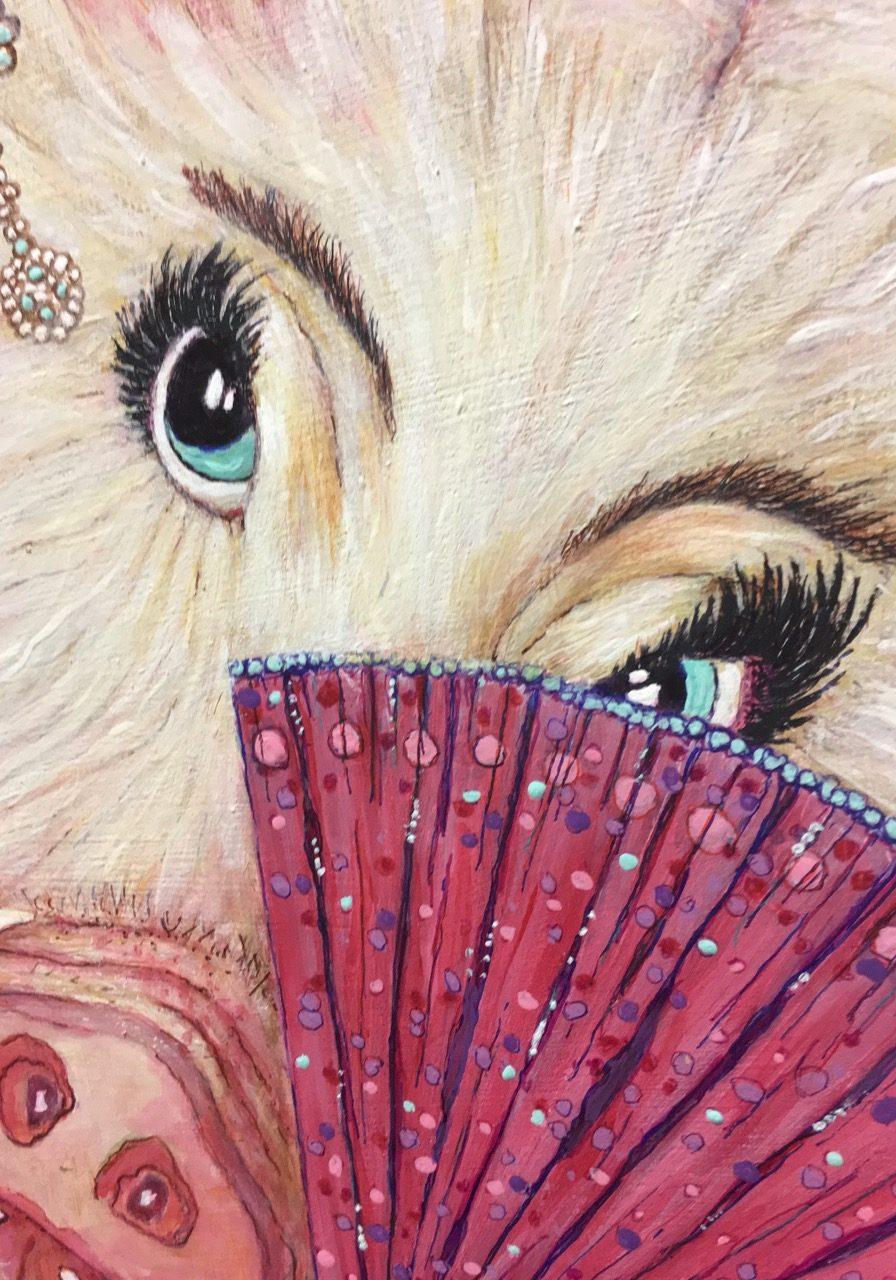 Bina Ballerina, art detail by Jeannie Hope Gibson